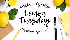 Шрифт LEMON TUESDAY